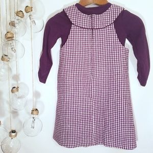 Rare Editions Dresses - Rare Editions 2 Piece Purple Houndstooth Dress 6X
